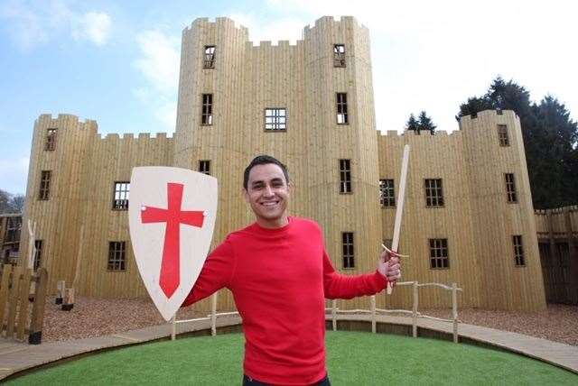 Cbeebies presenter Ben Cajee opened the new Knights Stronghold playground and Adventure Golf Course at Leeds Castle