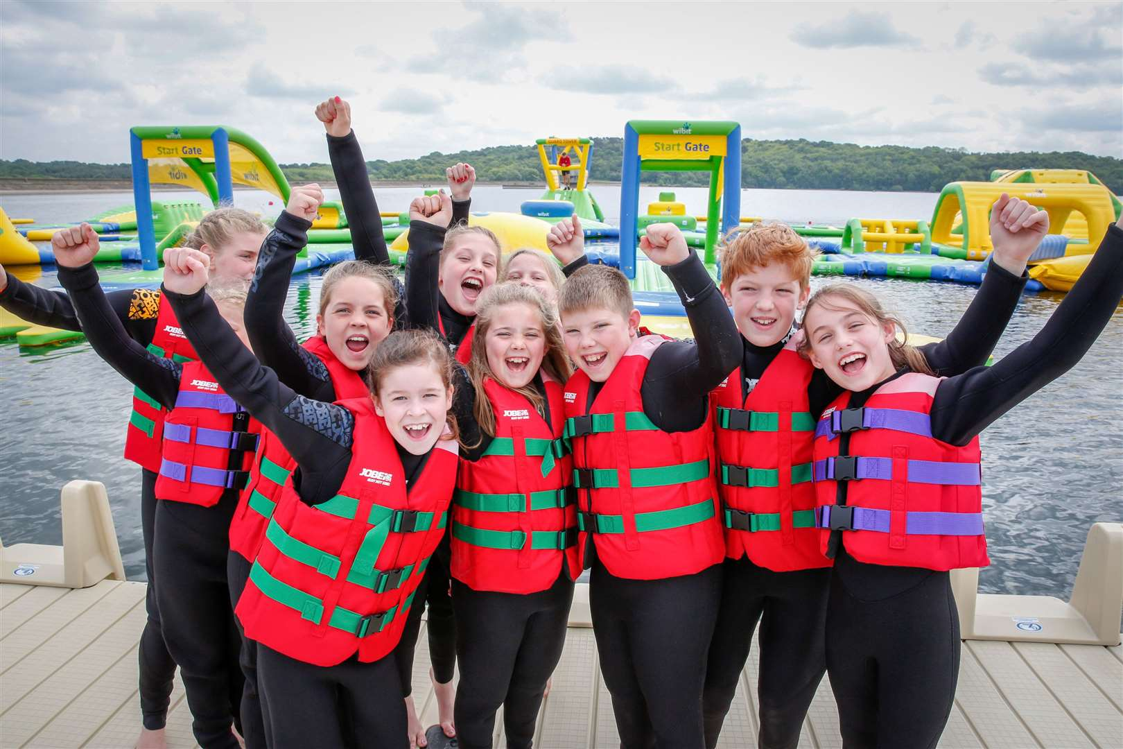 Total Wipeout style attraction at Bewl Water