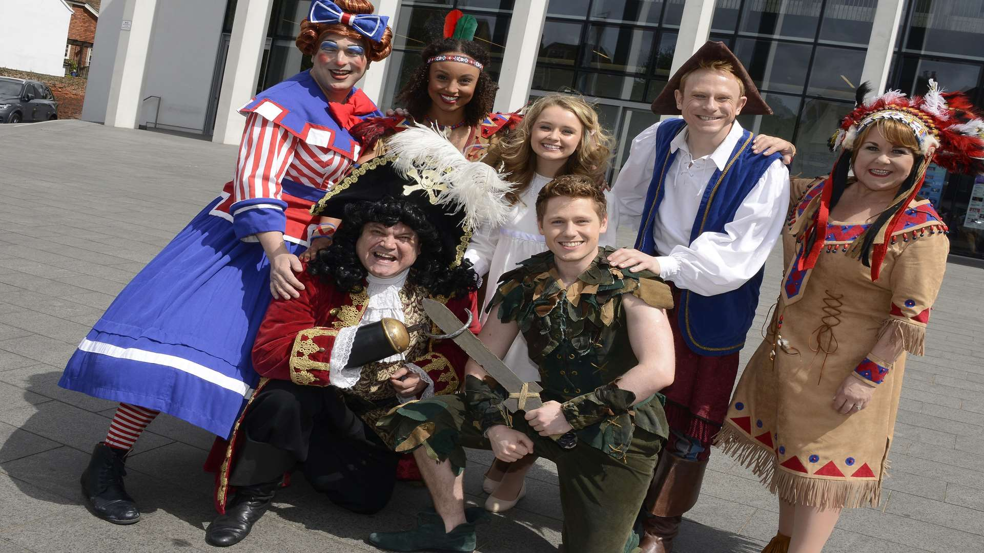 The cast of Peter Pan at The Marlowe Theatre