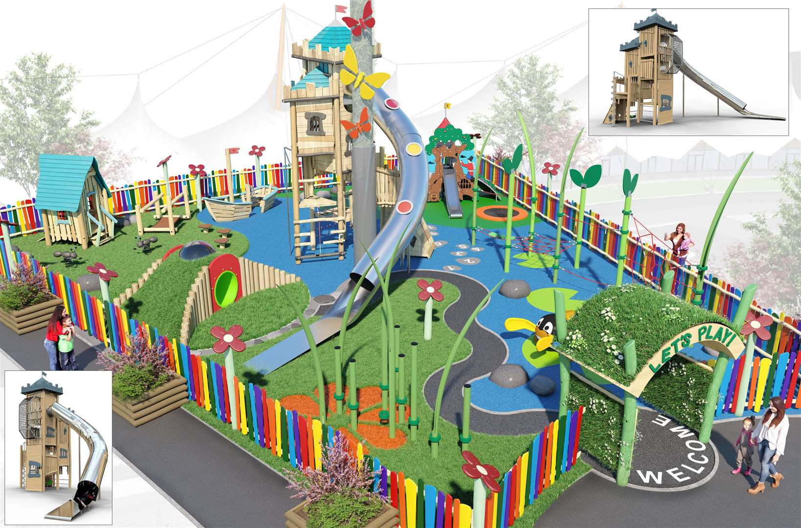 How the playground will look
