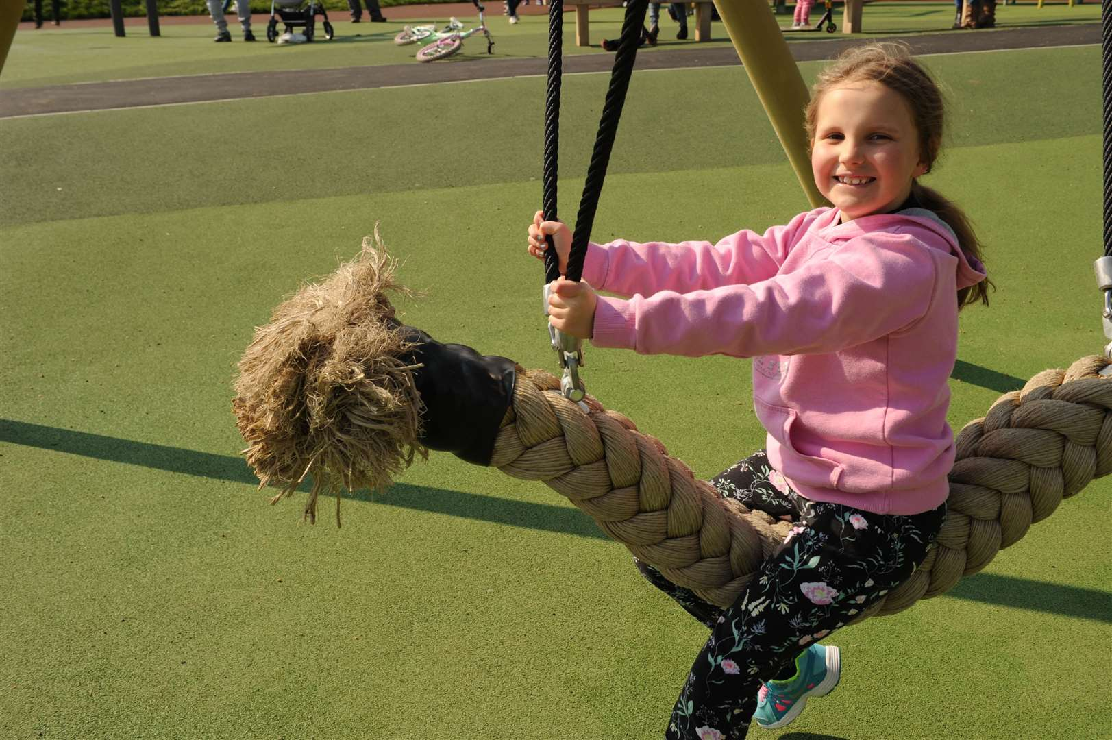 The play area at Mote Park has reopened