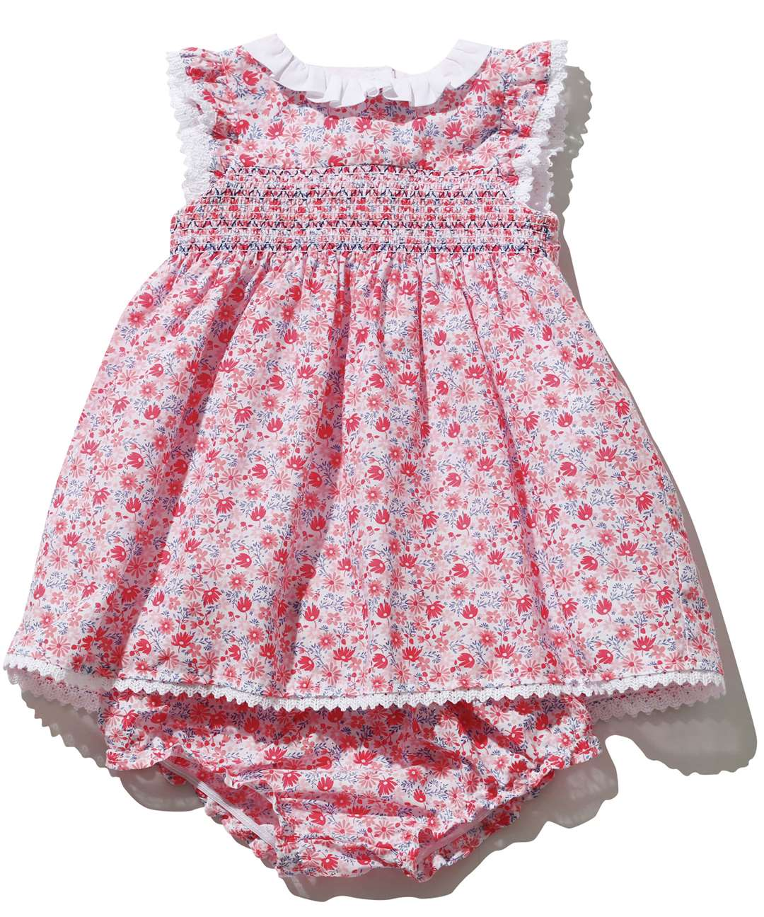 M&Co Floral Print Smock Dress, ages 0-3, from £18