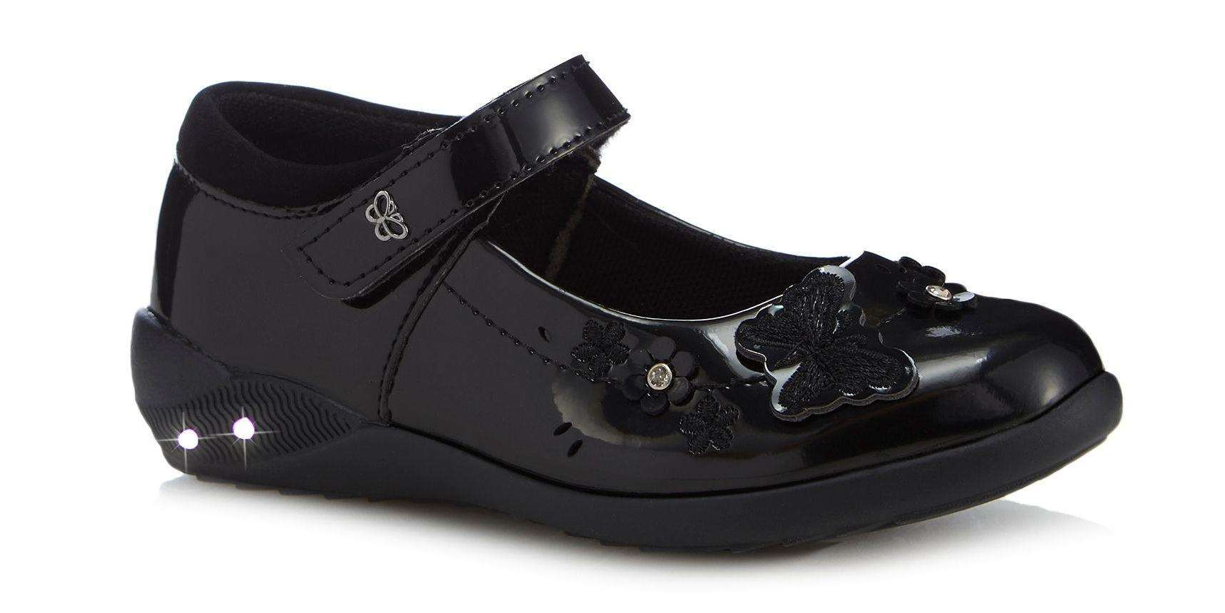 e6d7c62148 Girls' Black Patent Light-Up Mary Jane School Shoes, normally from £24