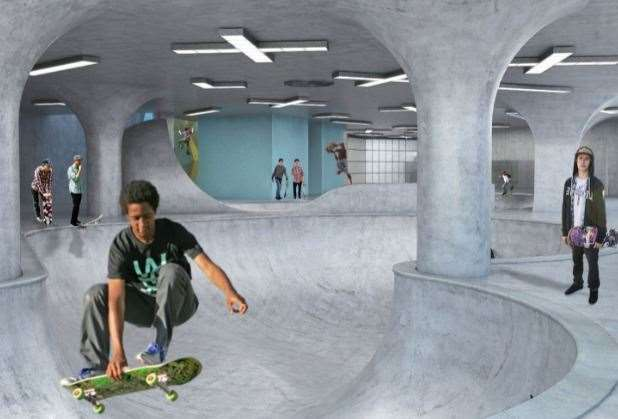 Images of how it is hoped the skate park will look