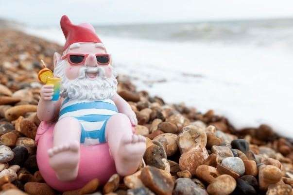 The gnomes can be found in Sandgate near Folkestone