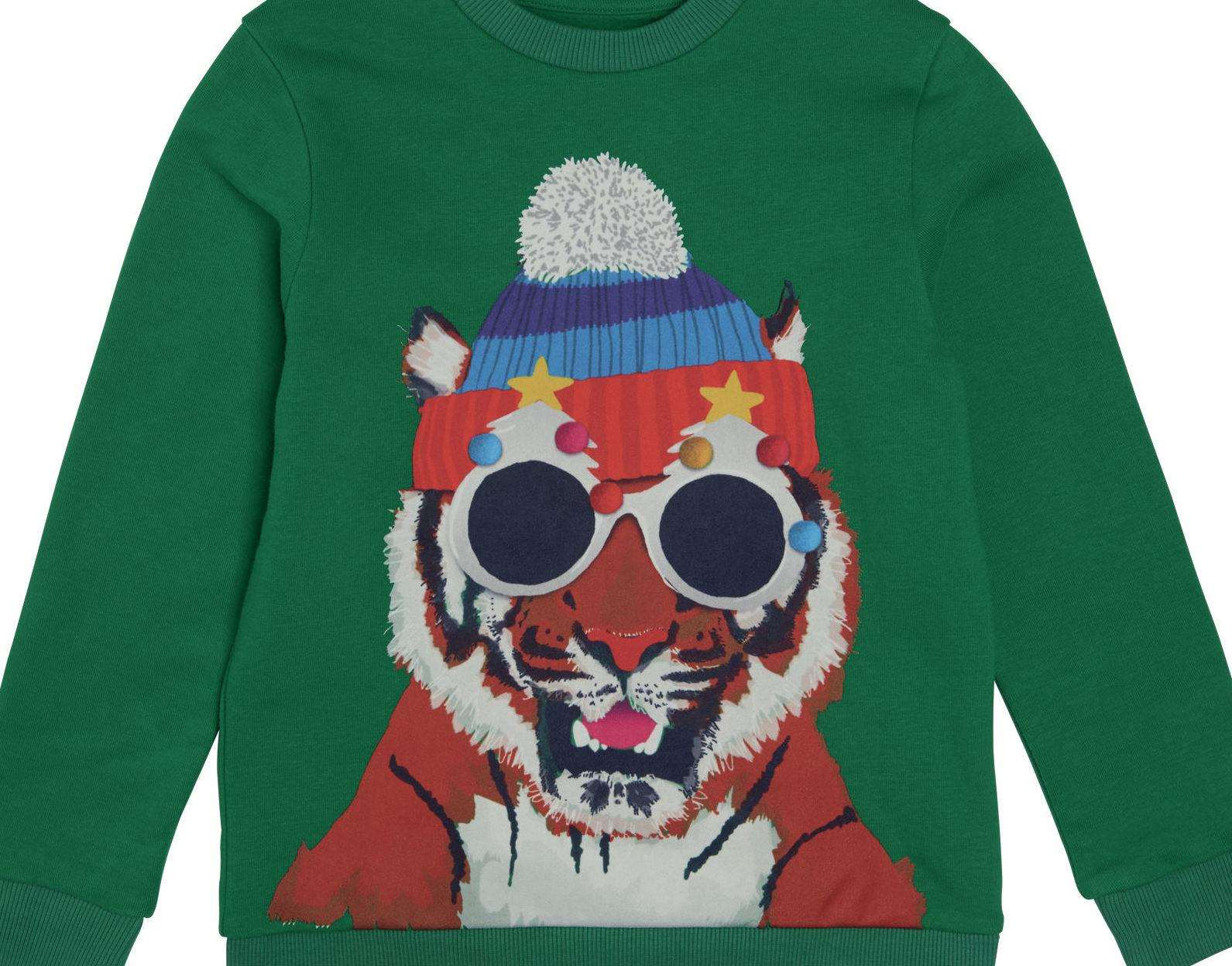 Give the kids a roar-some outfit to wear thanks to this tiger jumper from M&S for £15.